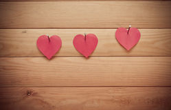 Valentines Day.Heart on wooden background Royalty Free Stock Photography