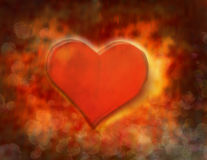 Valentines day hearth. Illustration of Valentines day background Stock Image