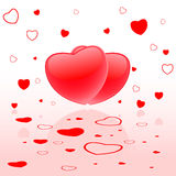 Valentines Day hearts. Valentines Day Background with hearts Royalty Free Stock Photography