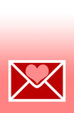 Valentines day Hearts. Valentines letter vector illustration