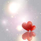 Valentines Day hearts background Stock Photo