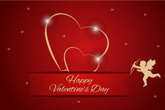 Valentines day hearts background background Royalty Free Stock Photos