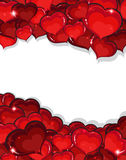 Valentines Day hearts background Stock Image