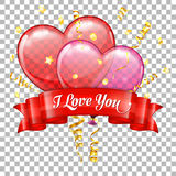 Valentines Day with Hearts Balloons Royalty Free Stock Image