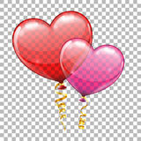 Valentines Day with Hearts Balloons Stock Photos