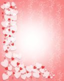 Valentines Day Hearts Border Royalty Free Stock Images