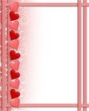 Valentines Day Hearts border Royalty Free Stock Photography