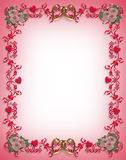 Valentines Day Hearts border design Stock Photo