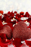 Valentines Day Hearts and Candles stock images