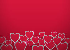 Valentines Day. Hearts cut out from Paper Royalty Free Stock Photo