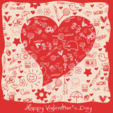 Valentines Day - Hearts - Doodles Collection Royalty Free Stock Photos