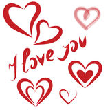 Valentines Day hearts on holiday Royalty Free Stock Photo