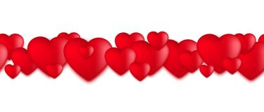 Valentines day hearts, Love balloons on white background. Vector illustration Royalty Free Stock Images