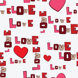 Valentines Day Hearts Love  pattern. Valentines Day Hearts Love  seamless pattern Royalty Free Stock Images