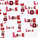 Valentines Day Hearts Love pattern Stock Image