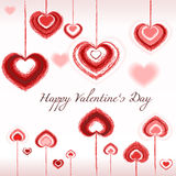 Valentines day - hearts, love, vector, brush Stock Photo