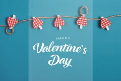 Valentines day. Hearts over blue background. - Image. Valentines day. Hearts over blue background stock images