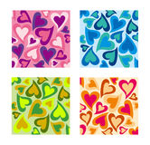Valentines Day Hearts pattern set. Stock Image