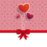 Valentines Day Hearts Red Ribbon Royalty Free Stock Image