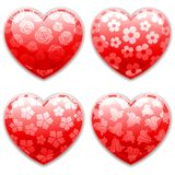 Valentines Day Hearts set. Stock Photos