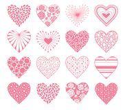 Valentines Day hearts set Royalty Free Stock Image
