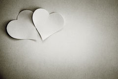 Valentines day hearts on white background stock photography