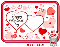 Valentines Day Hearts, Whiteboard royalty free stock photos