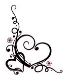 Valentines day, herats, flowers. Black and pink vector series, valentines day Vector Illustration