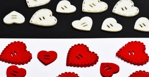 Valentines day holiday celebration. Texture with hearts close up. Traditional attributes of valentines day. Be my. Valentine. Lovely background. Decoration stock photography