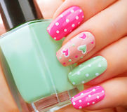 Valentines Day holiday manicure Stock Photo