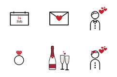 Valentines day icon Royalty Free Stock Photography