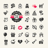 Valentines day icon set Royalty Free Stock Image