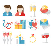 Valentines day icons Stock Photography