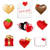 Valentines Day Icons Collection. Vector Royalty Free Stock Photos