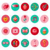 Valentines day icons elements collection. Royalty Free Stock Photo