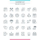 Valentines day thin line icons Royalty Free Stock Photo