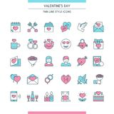 Valentines day icons set Stock Photography