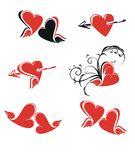 Valentines day illustration Royalty Free Stock Images