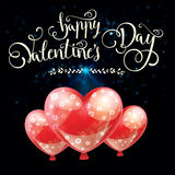 Valentines day illustration card background happy Valentine`s da Royalty Free Stock Images