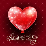 Valentines day illustration card background happy Valentine`s day. Vector Valentines day illustration card background happy Valentine`s day beautiful balloons Stock Photo