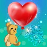 Valentines day illustration card background happy Valentine`s day Royalty Free Stock Image