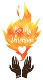 Valentines Day illustration. Stock Photo