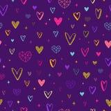 Valentines day illustration. Seamless hearts pattern. stock illustration