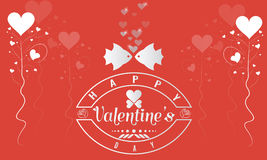 Valentines day illustration and typography element Stock Images