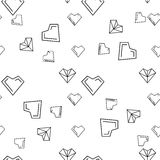 Valentines day illustrations a heart pattern Stock Images