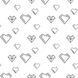 Valentines day illustrations a heart pattern Royalty Free Stock Image