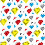 Valentines day illustrations a heart pattern Royalty Free Stock Photos
