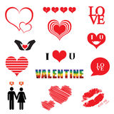 Valentines day illustrations icon set. Valentines day illustration icon set vector illustration