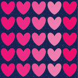 Valentines day illustrations and typography elements. Stock Images