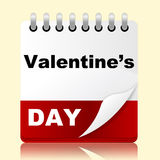 Valentines Day Indicates Planning Month And Affection Royalty Free Stock Photography